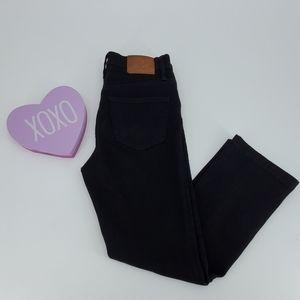 J CREW black Billie demi boot crop jeans